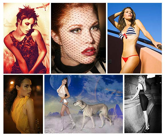 fashion photography collage
